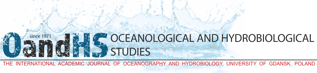 Oceanological and Hydrobiological Studies